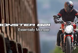 Ducati Monster 821 Essentially Monster Action videoの画像