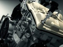 Ducati 1199 Panigale Superquadro engine 3D animationの画像
